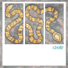 Load image into Gallery viewer, Snake Painting on Three Panels