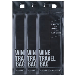 Wine Travel Bag - Matte Black (Pack of 3)