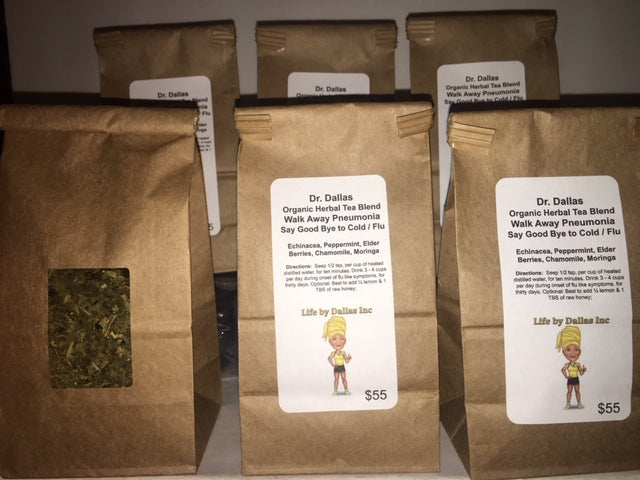 Dr. Dallas Organic Tea Blend: Walk Away Pneumonia Say Goodbye to Cold / Flu