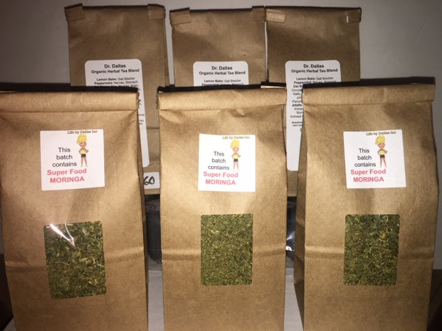 Dr. Dallas Organic Herbal Tea Blend with Super Food Moringa - 8 Week Supply