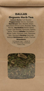 Dr. Dallas Organic GREEN Herbal Tea Blend