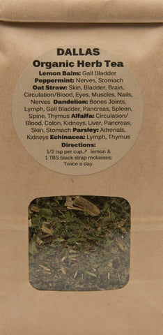 Dr. Dallas Organic GREEN Herbal Tea Blend 8 WEEK SUPPLY