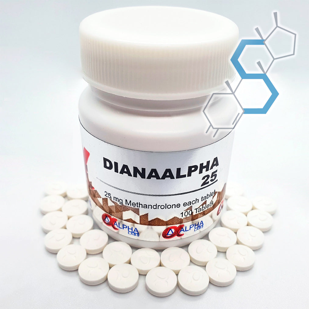 Dianaalpha 25 | Dianabol (Metandienona) 25mg 100 tabletas