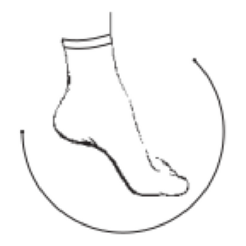 Anklet with Invisibly Reinforced Toe