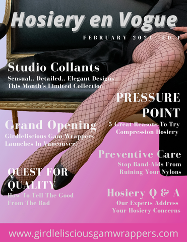 Hosiery en Vogue newsletter cover page - February 2021