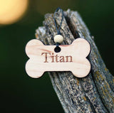 Wooden Dog Tag, Personalized