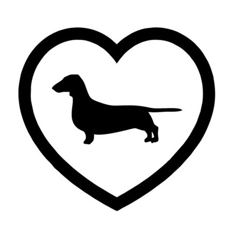 Dachshund Decal, parade your love for all to see. - DachshundFan
