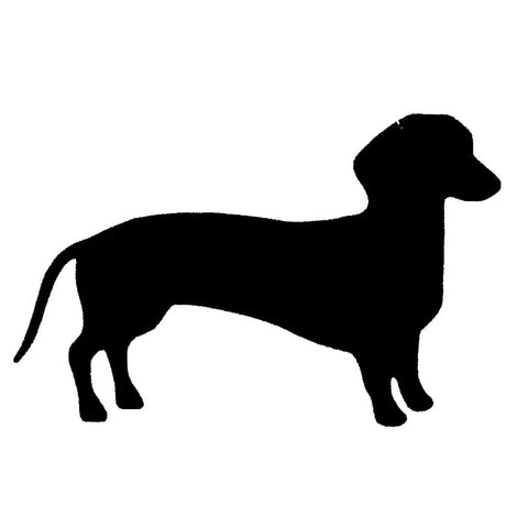 Dachshund Decal, for your auto, window or wall 6.62 inches x 2.76 inches - DachshundFan
