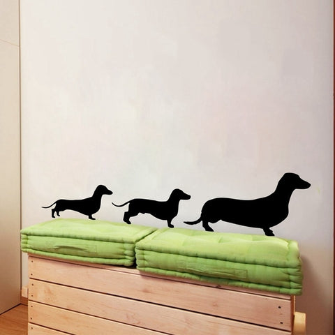 Dachshund Family Wall Decal, perfect for an artistic touch to your home, office or auto - DachshundFan