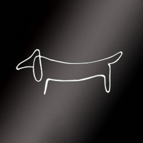 "Picasso's ""Lump"" artistic dachshund vinyl art, perfect for your auto, window or wall - DachshundFan"