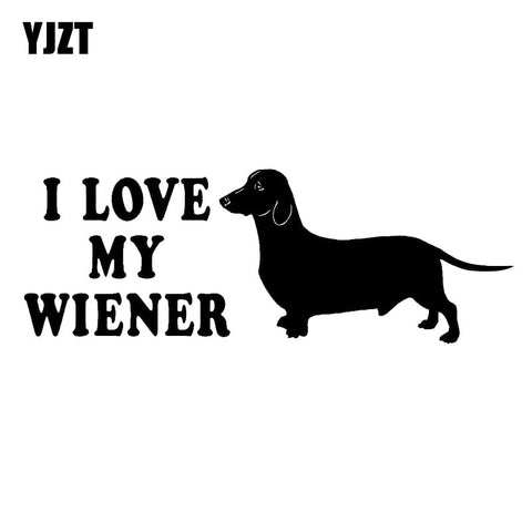 I Love My Wiener Auto Decal 7.87 inches x 3.74 inches - DachshundFan