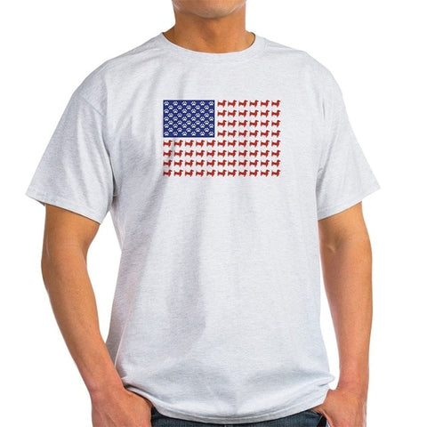 Dachshund Patriotic Flag - 100% Cotton T-Shirt, Serious Dachshund Apparel For Humans! 4TH of July is Just Around the Corner! - DachshundFan