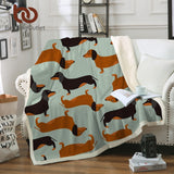 Dachshund throw blanket, soft and light weight - DachshundFan