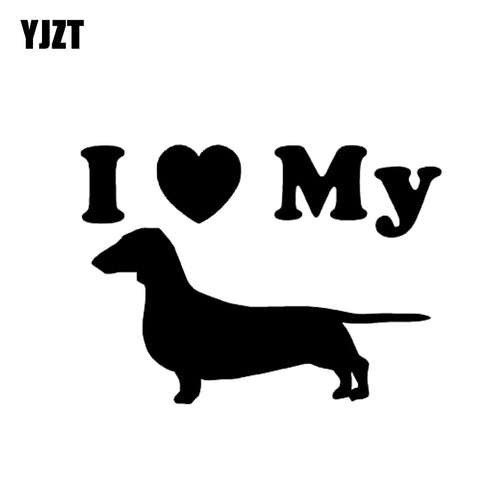 I Love My Dachshund Decal, perfect for your auto, window or wall or anything you want to decorate. - DachshundFan