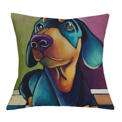 Dachshund Decor ! 1 Piece oil Printed Pillow Case - DachshundFan