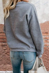 Design Letter Print Sweat Top Sweater