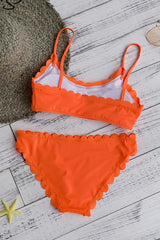 Orange Haven Bikini Top and Bottom
