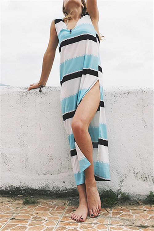 Casual Striped Tank Beach Dress