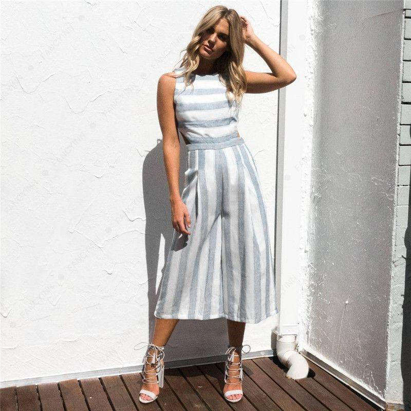 Emery Striped Jumpsuits