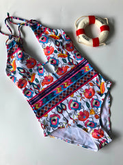 Tropical Flora One-Piece Swimsuit