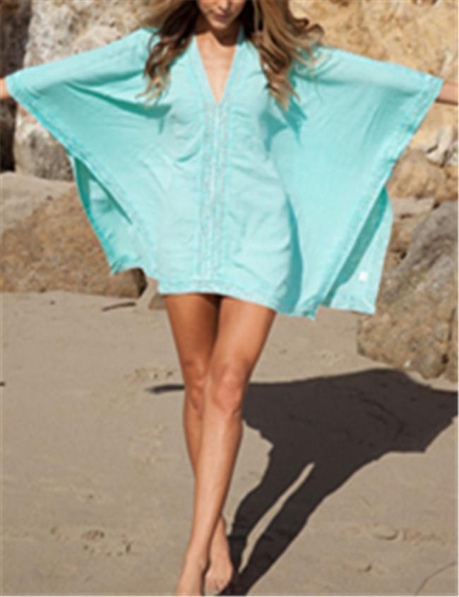 Women's Fashion Swimsuit Cover-Up Beachwear Mini Dress