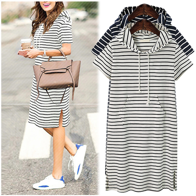 Plus Size Hoodie T-Shirt Dress