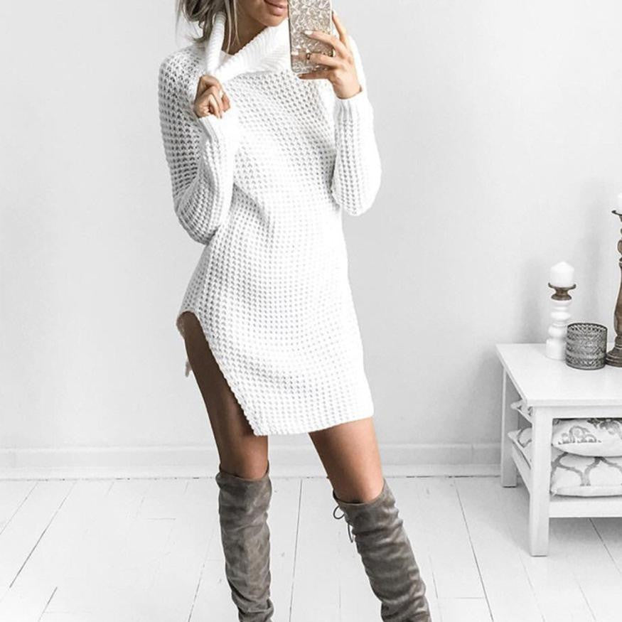 Cozy Turtleneck Sweater  Dress