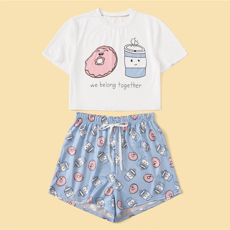 Coffee and Donuts Pajama Set