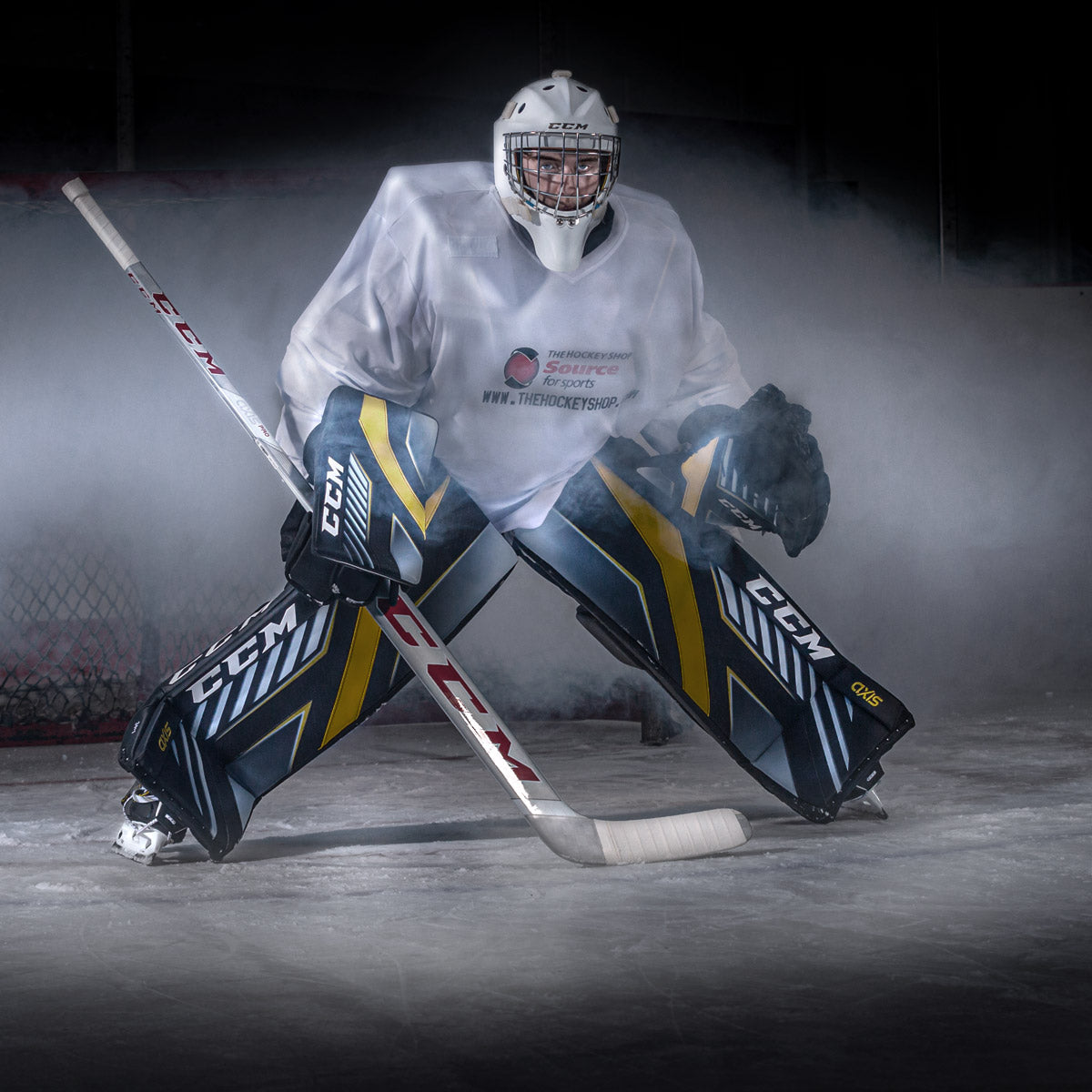 CCM Axis Goal Pads on-ice Review