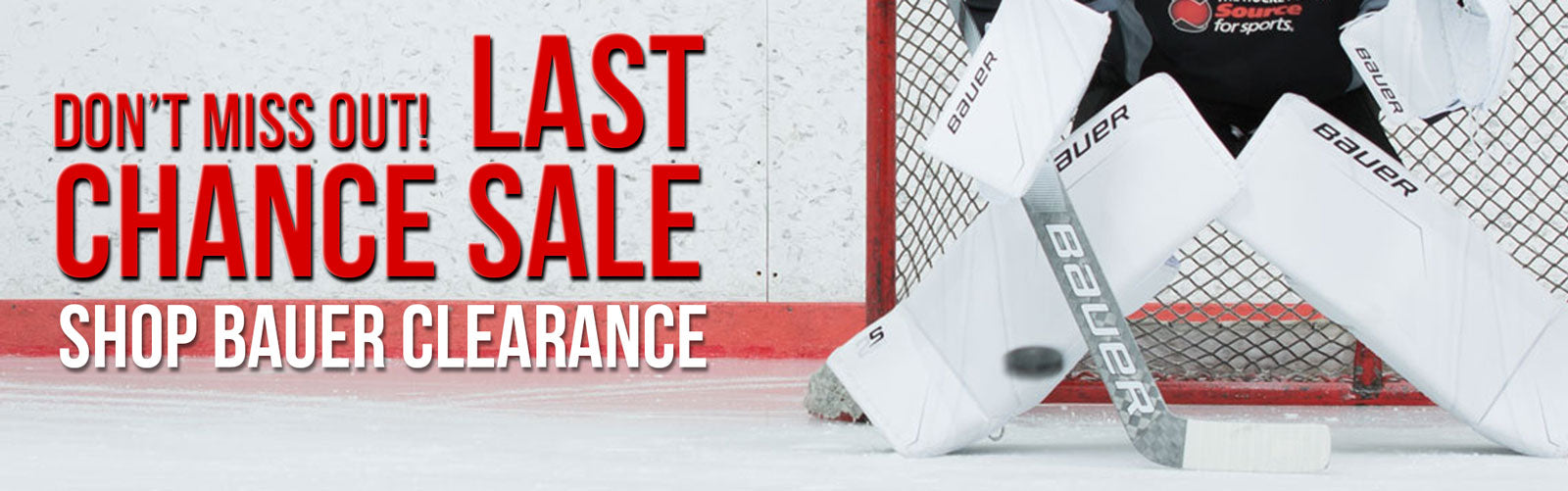 Bauer Clearance Goal Gear