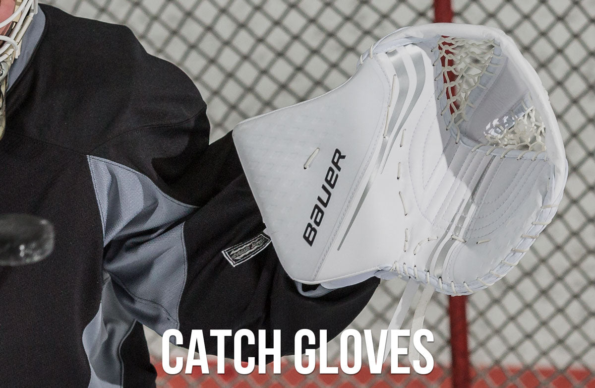 Bauer goal catch gloves