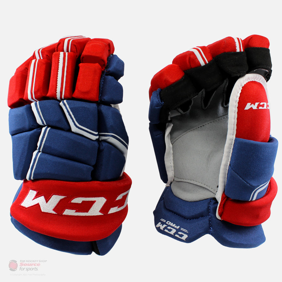 CCM HGQLXP Pro Stock Senior Gloves - Pro Extra Protection - Montreal Canadiens