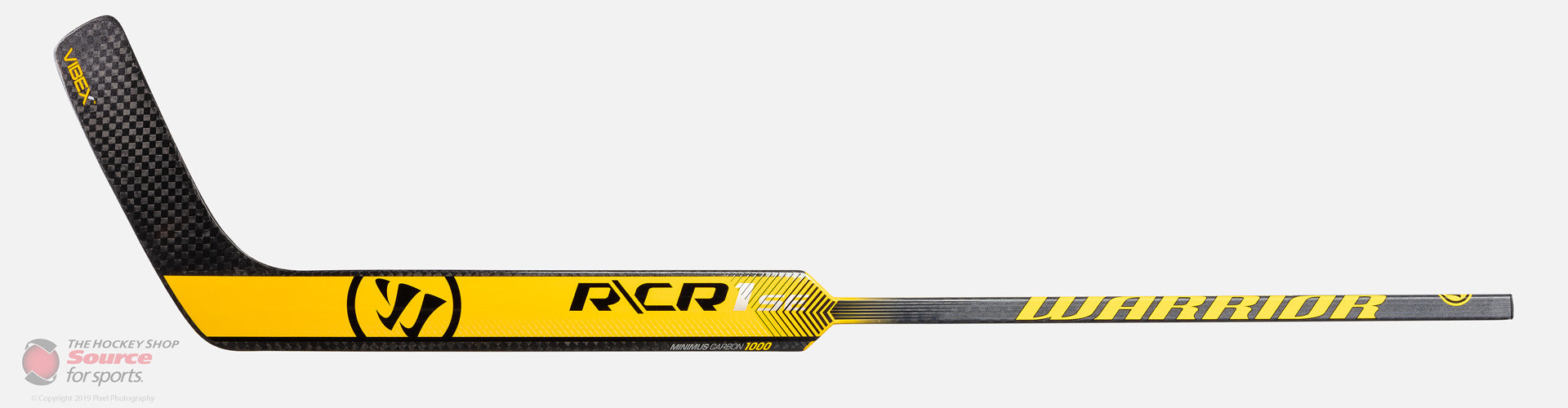 Warrior Ritual CR1 Special Edition Senior Composite Goalie Stick - Silver / Yellow