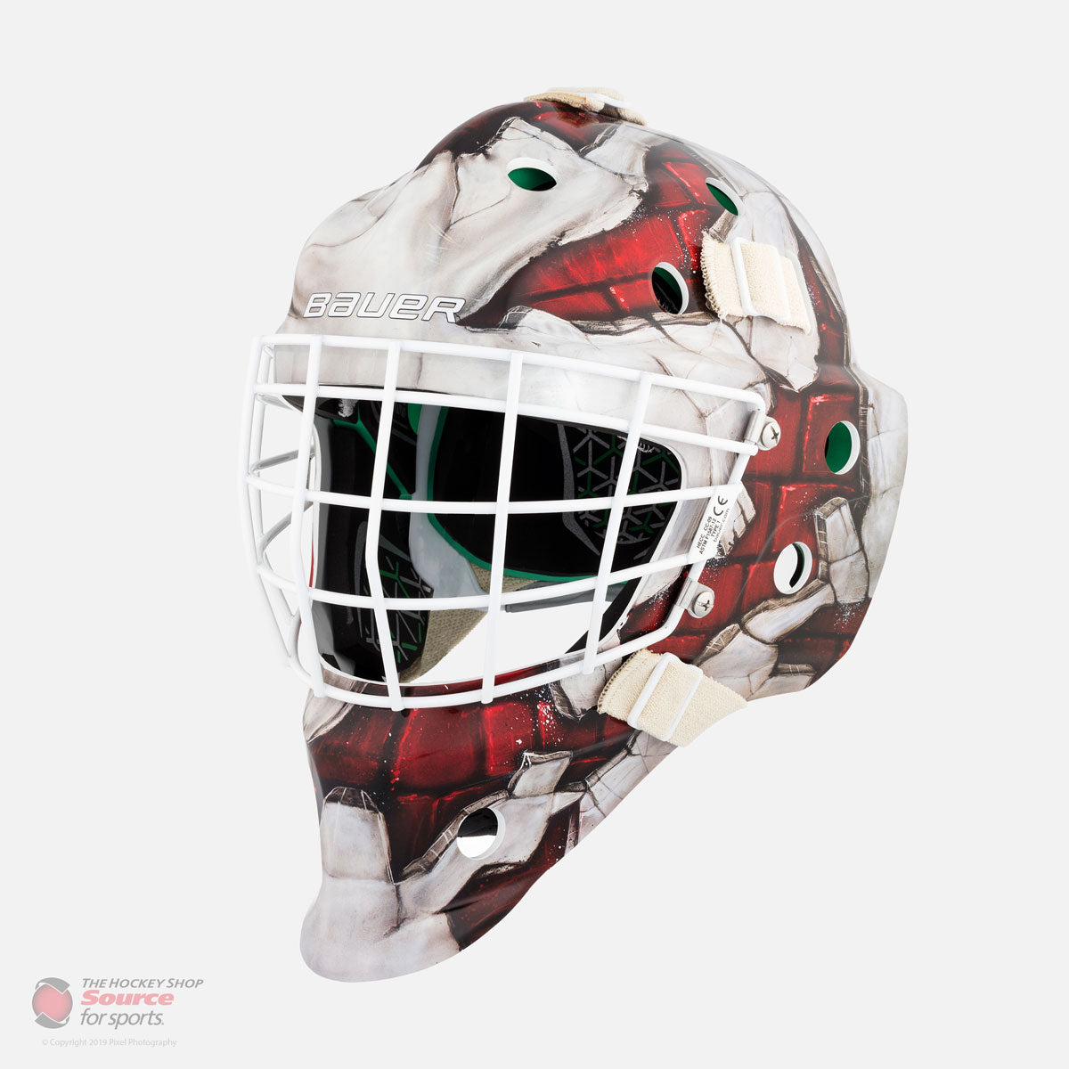 Bauer NME 4 Youth Goalie Mask - Red Wall