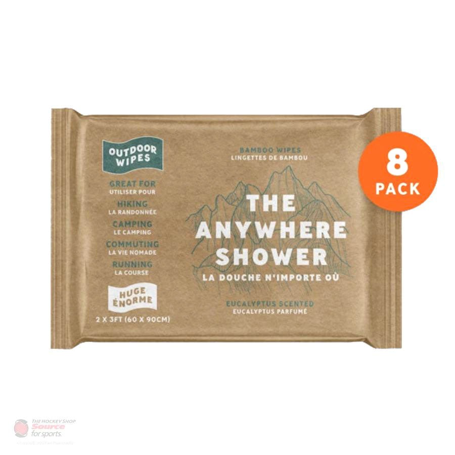 Outdoor Wipes - The Anywhere Shower - Huge 2'x3' Wipes - Box of 8