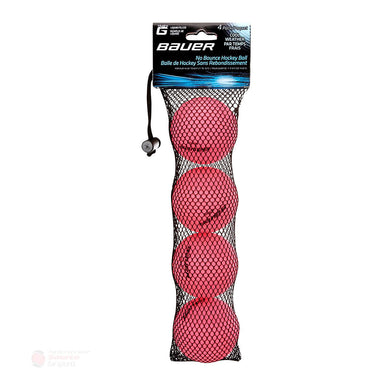Bauer HydroG Liquid Filled No Bounce Hockey Balls - 4-Pack