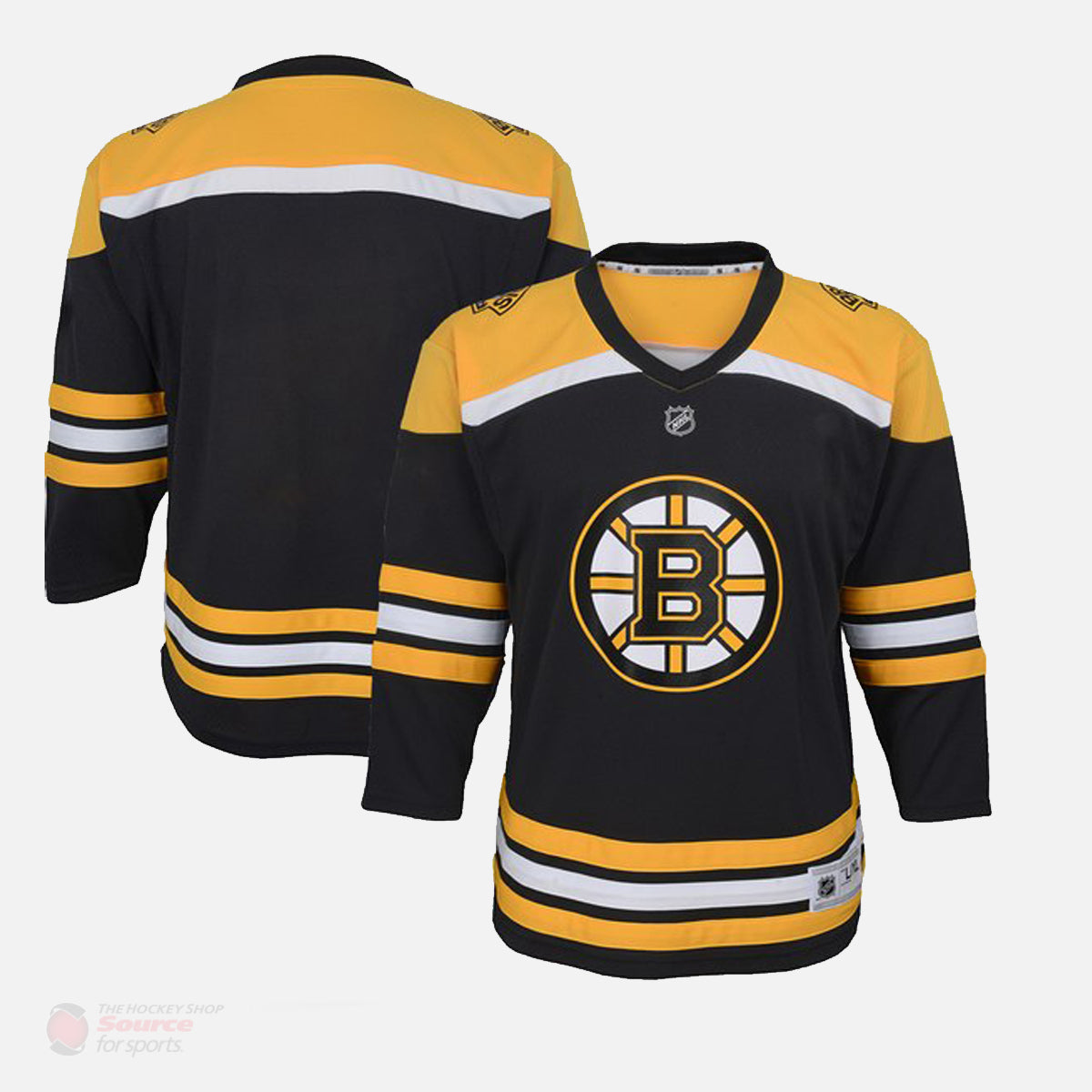 new concept 2e8f6 80ff8 Boston Bruins Replica Youth Home Jersey