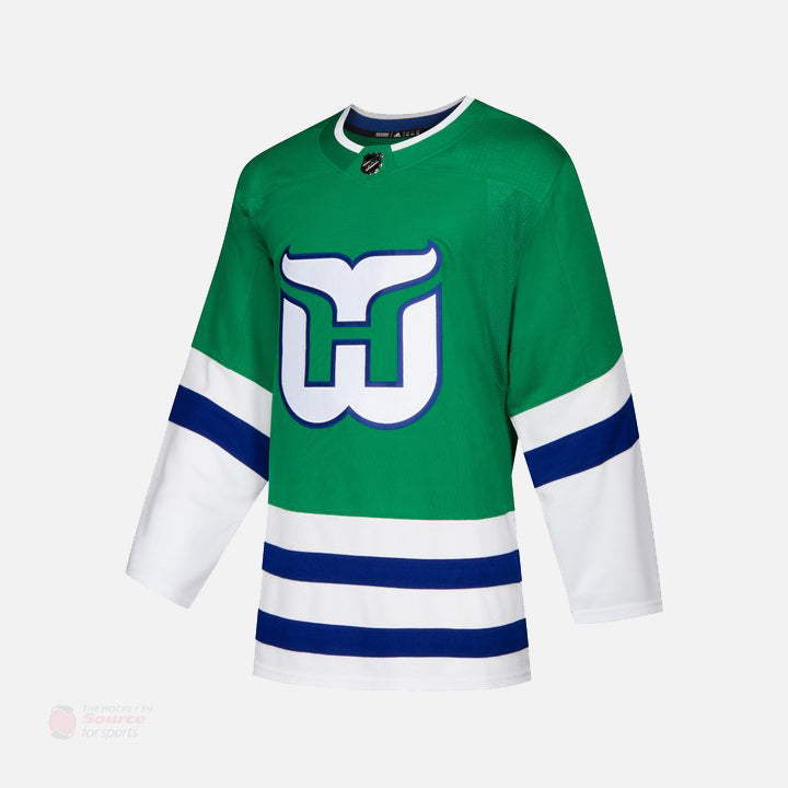 Carolina Hurricanes Adidas Authentic Senior Vintage Whalers Jersey