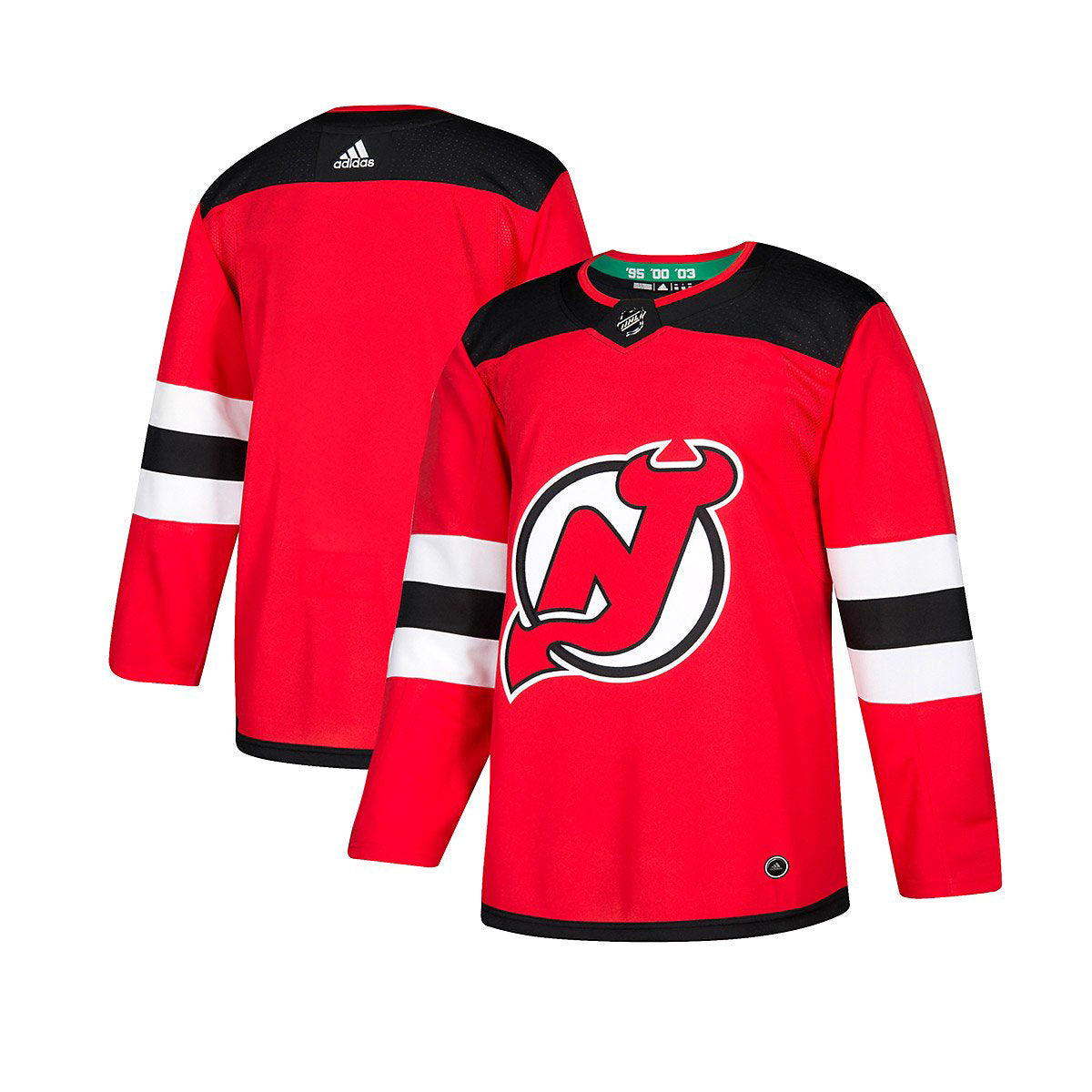 competitive price b8c8a e05c8 New Jersey Devils Adidas Authentic Senior Home Jersey