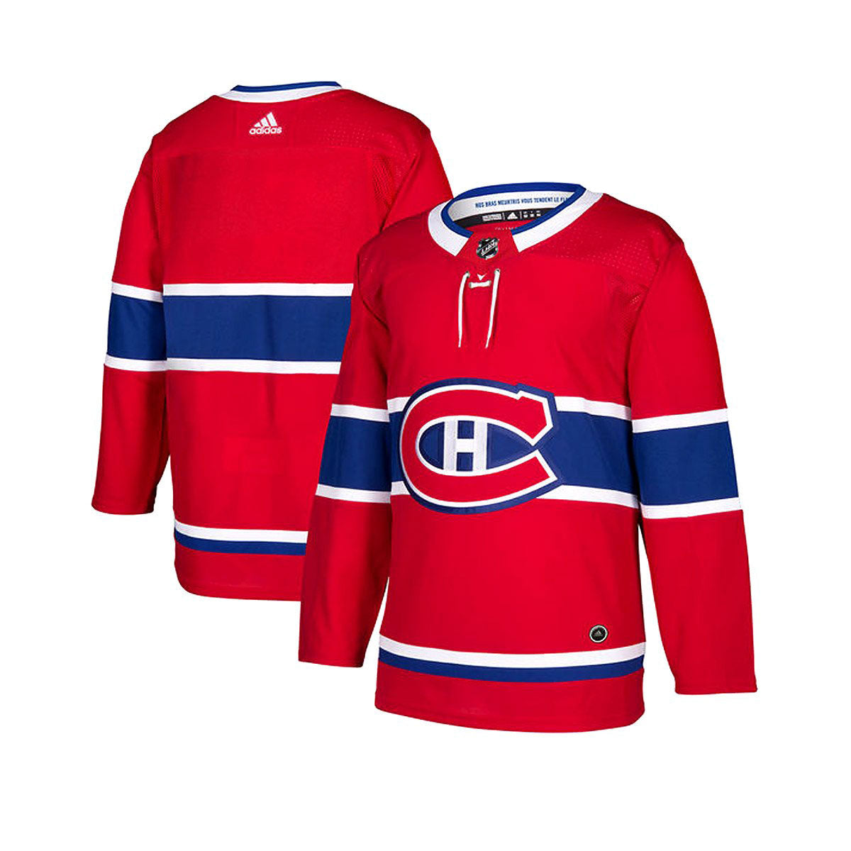 best website 49c0f 0ad4b Montreal Canadiens Adidas Authentic Senior Home Jersey
