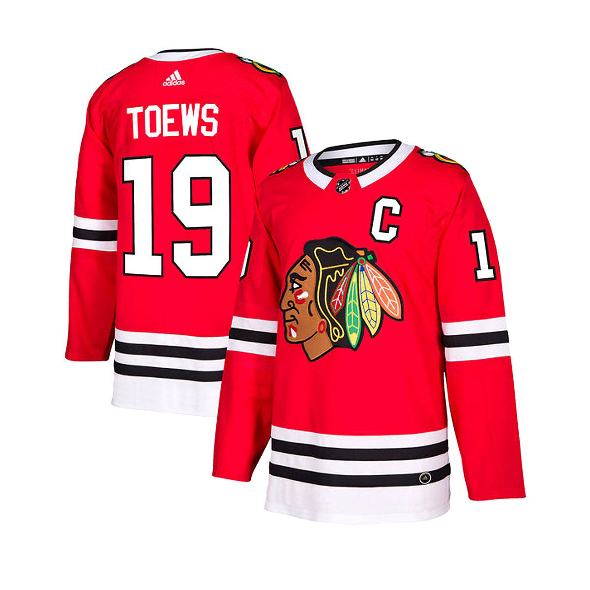 Chicago Blackhawks Home Adidas Authentic Senior Jersey - Jonathan Toews