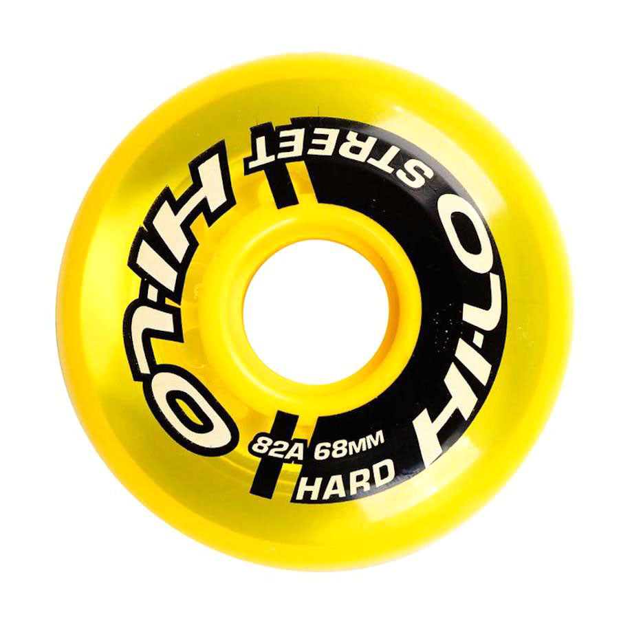 Bauer HI-LO Street Roller Hockey Wheels - Yellow (82A)