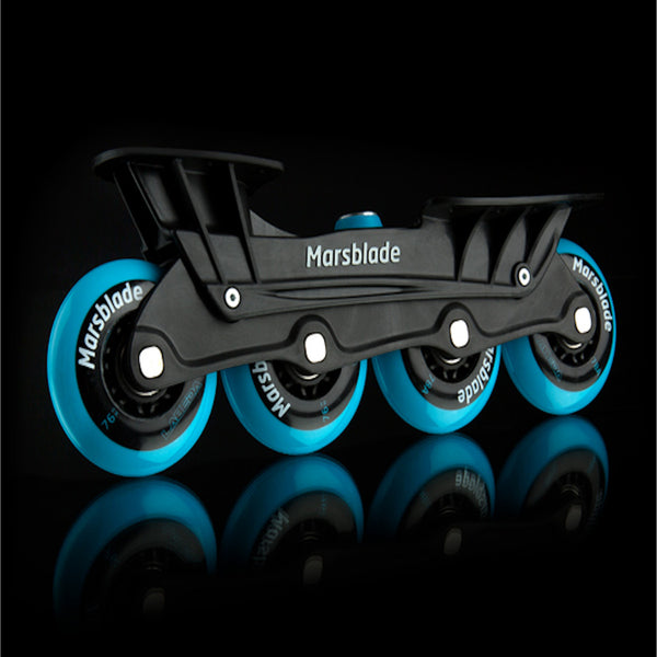 Marsblade Junior Frame Kit Includes Chassis Bearings Wheels For Inline And Roller Training Side View Black Background
