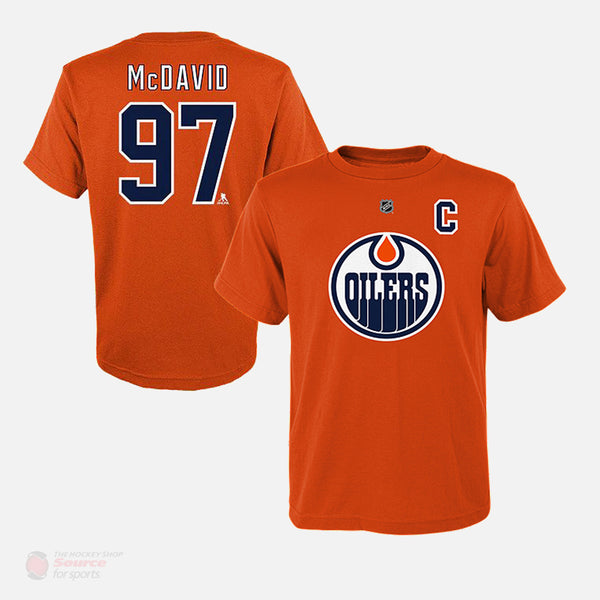 Edmonton Oilers Outer Stuff Name & Number Youth Shirt - Connor McDavid
