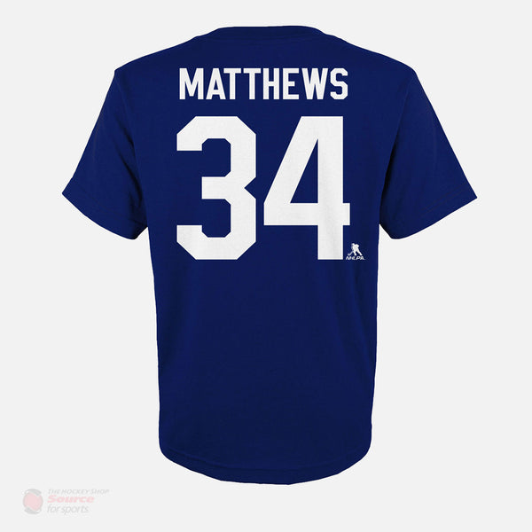 Toronto Maple Leafs Outer Stuff Name & Number Youth Shirt - Auston Matthews