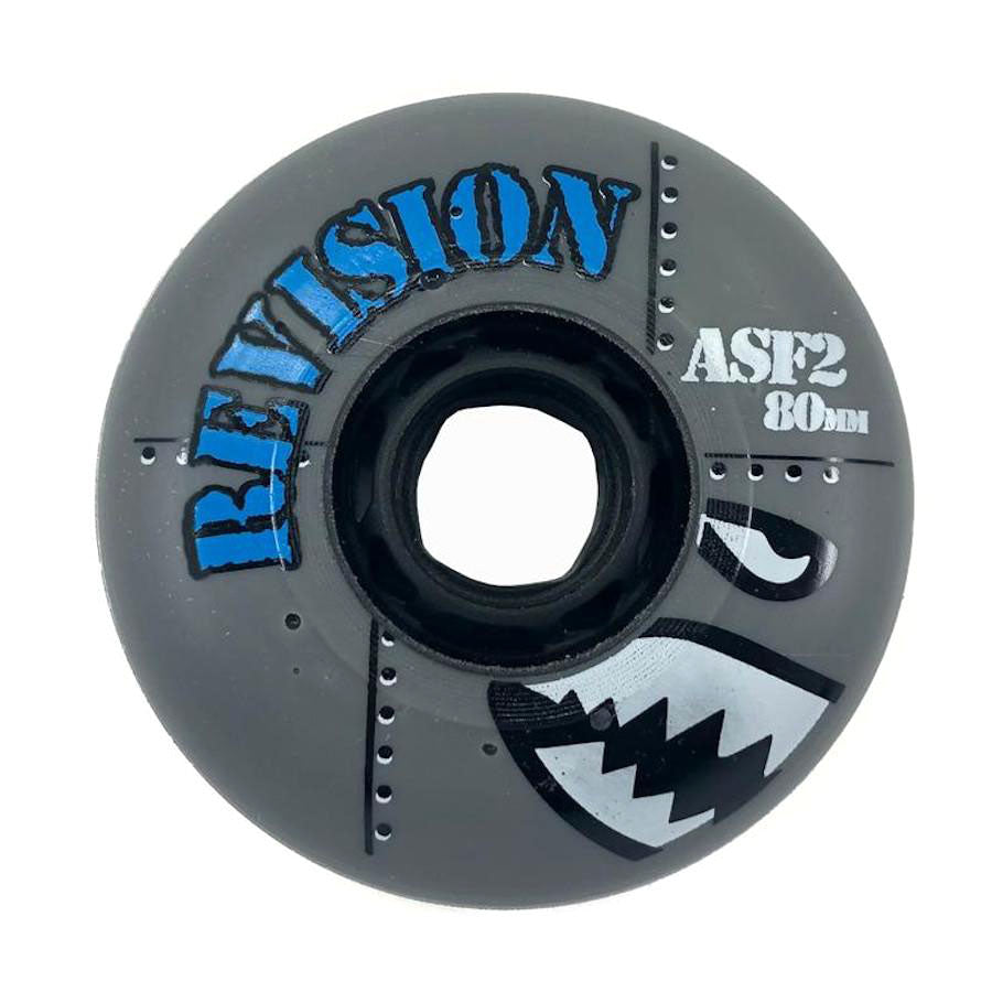 Revision Asphalt Pro ASF2 Street Roller Hockey Wheels - Grey (84A)