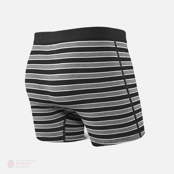 Saxx Ultra Boxers - Black Crew Stripe