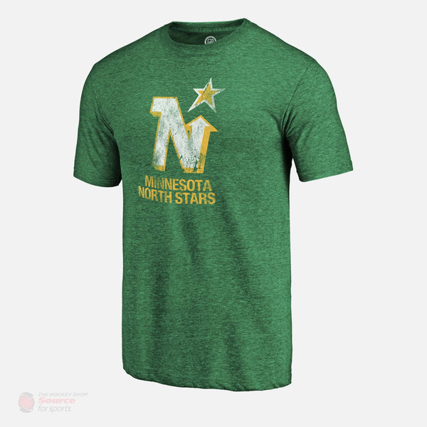 Minnesota North Stars Fanatics Distressed Vintage Tri-Blend Mens Shirt
