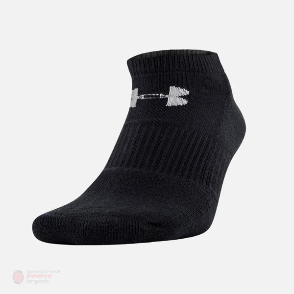 Under Armour Charged Cotton No Show Black Performance Socks - 6 Pack