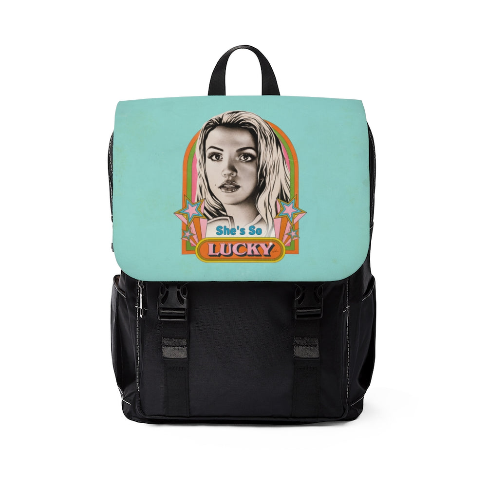 She's So Lucky - Unisex Casual Shoulder Backpack